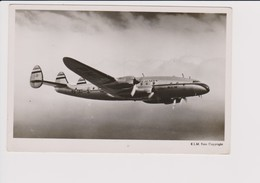 Vintage Rppc KLM K.L.M Royal Dutch Airlines Lockheed Constellation L049 Aircraft - 1919-1938: Entre Guerres
