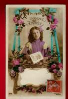 Jolie CP Ancienne Colorisée Bonne Année Enfant Fillette Fleurs ... - Ed Luna 2146 - écrite à Savennières 31-12-1911 - Nouvel An
