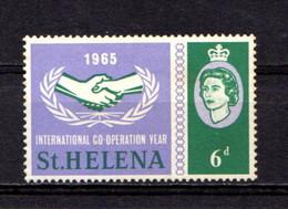 SAINT  HELENA    1965    I C Y  6d  Green  And  Lavender    MN - Saint Helena Island