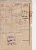 CHEMIN DE FER - LETTRE DE VOITURE - CHARBONNAGES DE LAMBUSART VERS THIONVILLE - CACHET SNCB AISEAU 1931 - Transports