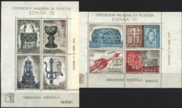 Espana'75. Hojitas Ed 2252-53 (**) Mi BLK19-BLK20 - 1931-Heute: 2. Rep. - ... Juan Carlos I