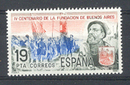Espagne 1980. Foundation Buenos Aires Ed 2584 Yv 2225 (**) - 1931-Aujourd'hui: II. République - ....Juan Carlos I