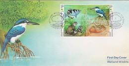 Singapore 2000 Wetland Wildlife FDC - Singapore (1959-...)