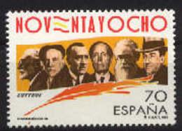 Spain 1998 - Generacion Del 98 Ed 3536 (**) Mi 3377 - 1931-Heute: 2. Rep. - ... Juan Carlos I