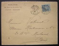 Paris 83 1897 Noublanche 52 Rue De Paradis - Marcophilie (Lettres)