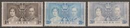 Aden 1937 MiN°13-15 3v MH/* - Aden (1854-1963)