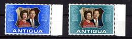 ANTIGUA    1972    Royal  Silver  Wedding    Set  Of  2    MNH - Antigua & Barbuda (...-1981)