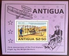 Antigua 1978 Powered Flight Aviation Aircraft Minisheet MNH - Antigua And Barbuda (1981-...)