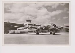 Vintage Rppc KLM K.L.M Royal Dutch Airlines Lockheed Constellation L-749 @ Hato Airport (N.W.I.) - 1919-1938: Entre Guerres