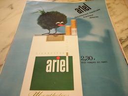 ANCIENNE PUBLICITE CIGARETTES ARIEL 1966 - Tabac (objets Liés)