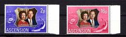 ASCENSION    1972    Royal  Silver  Wedding    Set  Of  2    MNH - Ascension