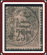 Congo Français 1891-1892 - N° 05b (YT) N° 6a (AM) Oblitéré. Surcharge Verticale De Bas En Haut. - Französisch-Kongo (1891-1960)