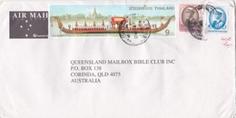 Thailand 2006 Cover To Australia, King Rama IX Royal Barge,1b And 30b - Thailand