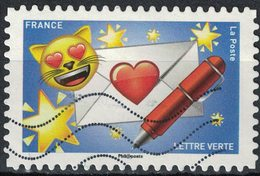 France 2018 Oblitéré Used Emoji Les Messagers De Vos Émotions Lettre D'Amour Y&T 1561 - France