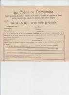 LA CABALLINE NAMUROISE - ASSURANCE PROVINCIALE-  ÉLEVEURS PROVINCE DE NAMUR - 2 DOCS - 1920 - Banque & Assurance
