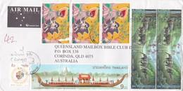 Thailand 2006 Cover To Australia,King Rama IX Royal Barge And 2b Elephants X 4,asalahabuja 4b X 3 - Thailand