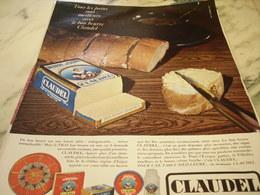 ANCIENNE  PUBLICITE  BEURRE CLAUDEL 1966 - Affiches