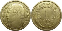 France - Troisième République - 1 Franc 1938 Morlon - H. 1 Franc