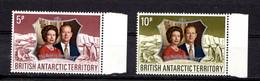 BRITISH  ANTARCTIC  TERRITORY    1972    Royal  Silver  Wedding    Set  Of  2    MNH - British Antarctic Territory  (BAT)