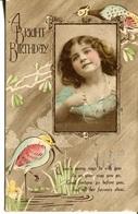 006117  A Bright Birthday. Kleines Mädchen Mit Locken Und Halskette  1922 - Anniversaire