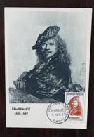 FRANCE, Peinture, Painting, REMBRANDT, Yvert N°1135 FDC Carte Maximum - Rembrandt
