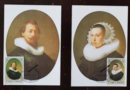 SAO TOME E PRINCIPE, Peinture, Painting, Rembrandt, Yvert 733/34, FDC 2 Cartes Maximums 1 Er Jour, FDC - Rembrandt
