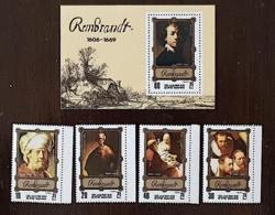 COREE DU NORD, Peinture, Painting, Rembrandt, Yvert N° 1741+BF, ** MNH - Rembrandt