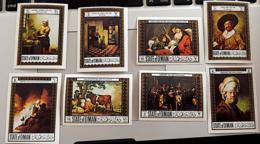 OMAN, Peinture, Painting, Rembrandt, Vermeer, Hals, Serie Complete 8 Valeurs  Non Dentelé ** MNH, Imperforate - Rembrandt