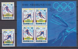 North Korea 07.02.1998 Mi # 3994-95, Kleinbogen 3994-95 Nagano Winter Olympics MNH OG - Inverno1998: Nagano