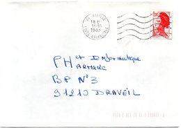 LOIRE ATLANTIQUE  - Dépt N° 44 = RIAILLE 1983 =  FLAMME Codée = SECAP Muette '5 Lignes Ondulées' - Postmark Collection (Covers)