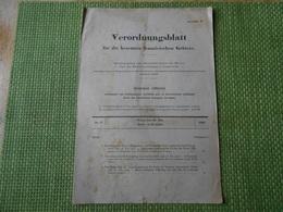 Militaria. Journal Officiel Allemand.N° 5 Du 29 Juillet 1940. 6 Pages. - Militaria