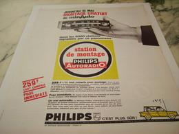 ANCIENNE AFFICHE  PUBLICITE AUTORADIO PHILIPS 1966 - Tabac (objets Liés)