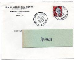 LOIRE ATLANTIQUE - Dépt N° 44 = RIAILLE 1962 = CACHET A8 - Manual Postmarks