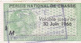 T.F Permis De Chasse N°80 - Fiscaux