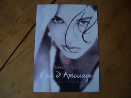 Carte Amouage Eau D'* - Perfume Cards