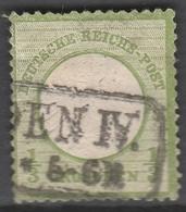 Deutsches Reich    .    Michel    .     17        .       O        .      Gebraucht - Gebraucht