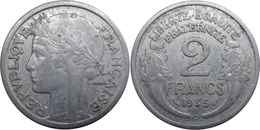 France - GPRF - 2 Francs 1945 C Morlon Aluminium - I. 2 Francs