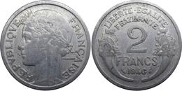 France - GPRF - 2 Francs 1946 B Morlon Aluminium - France