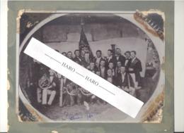 """TOP !! RARE - STAVELOT - Photo Sur Carton - Harmonie, Certainement  """" L'Orphée """" Vers 1860 (b247) - Places"""