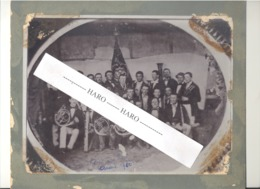 "TOP !! RARE - STAVELOT - Photo Sur Carton - Harmonie, Certainement  "" L'Orphée "" Vers 1860 (b247) - Plaatsen"