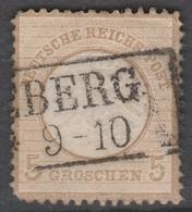 Deutsches Reich    .    Michel    .     22        .       O        .      Gebraucht - Ungebraucht