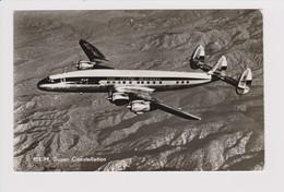 Vintage Rppc KLM K.L.M Royal Dutch Airlines Lockheed Constellation L1049 - 1919-1938: Entre Guerres