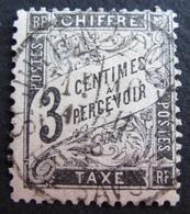 DF50500/246 - 1881 - TIMBRE TAXE TYPE DUVAL N°12 ☉ - Cote : 28,00 € - 1859-1955 Gebraucht