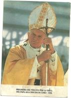 Giovanni  Paolo   2 Visita Diocesi  Di   COMO  1996 STATO  COME  SCANSIONE - Papi