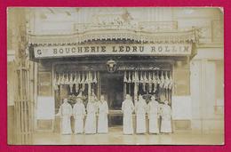 Carte Photo Commerce - Vitrine De La Grande Boucherie Ledru Rollin - Marchands