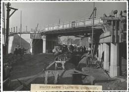 Photo  1938 Travaux Viaduc De QUATRECHT 18 X 13 Cm - Wetteren