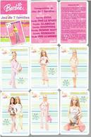 POUPEES BARBIE JEU DE CARTES DE 7 FAMILLES - Barbie