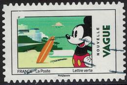 France 2018 Oblitéré Used Mickey Et La France Nouvelle Vague - France