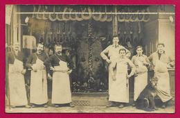 Carte Photo Commerce - Vitrine D'un Commerce De Boucherie - Marchands