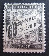 DF50500/251 - 1881 - TIMBRE TAXE TYPE DUVAL N°21 ☉ - Cote : 65,00 € - Portomarken